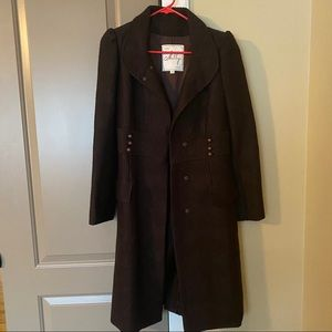 Milly New York Brown Wool Coat Size 4